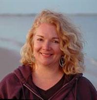 Debbie Bosworth, on the beach